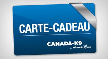 Carte Cadeau Canada-K9