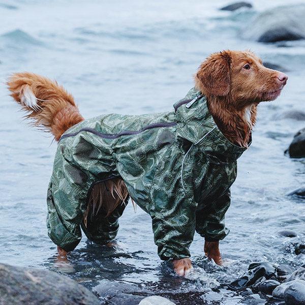 Combinaison de pluie pour chien Hurtta (Répulsif anti-insectes)